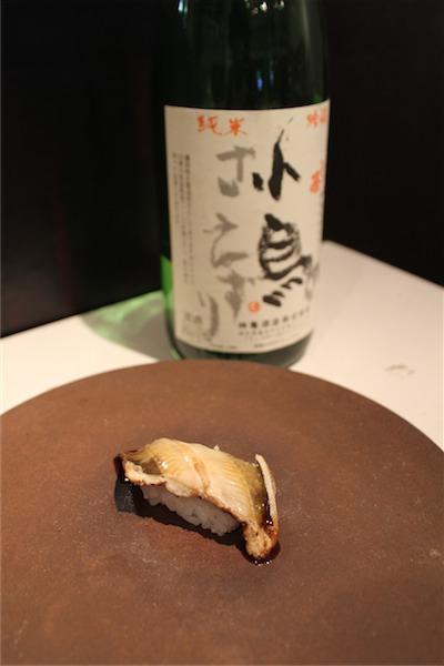 煮アナゴ × 小鳥のさえずり(埼玉)純米吟醸 19BY 40℃