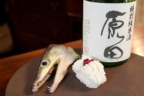 ハモの一本寿司(梅)× 原田 特別純米
