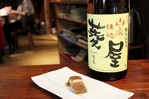 長崎県対馬 煮穴子 × 菱屋 山廃純米 燗度50℃
